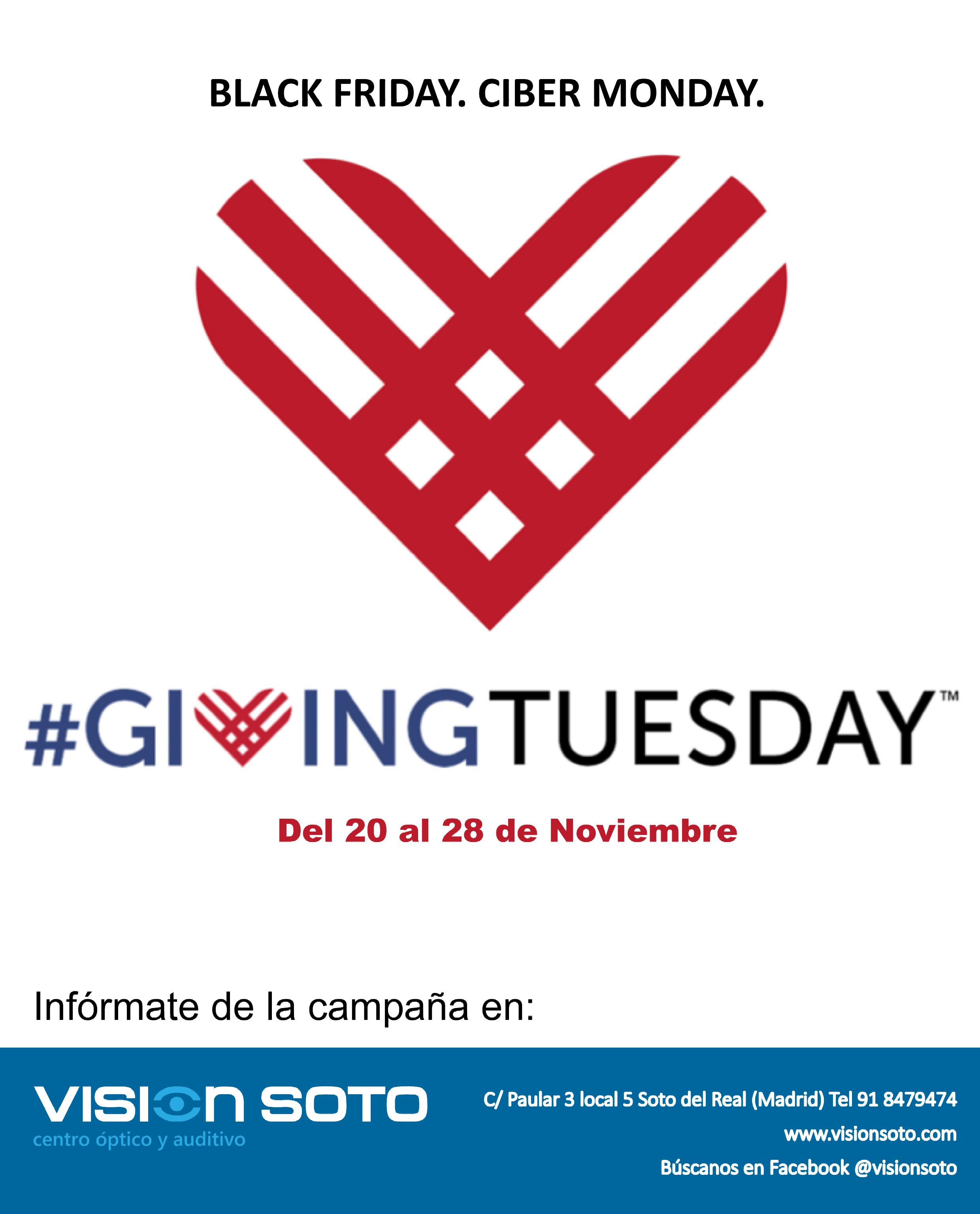 Visión Soto centro óptico y auditivo celebra #GIVINGTUESDAY.