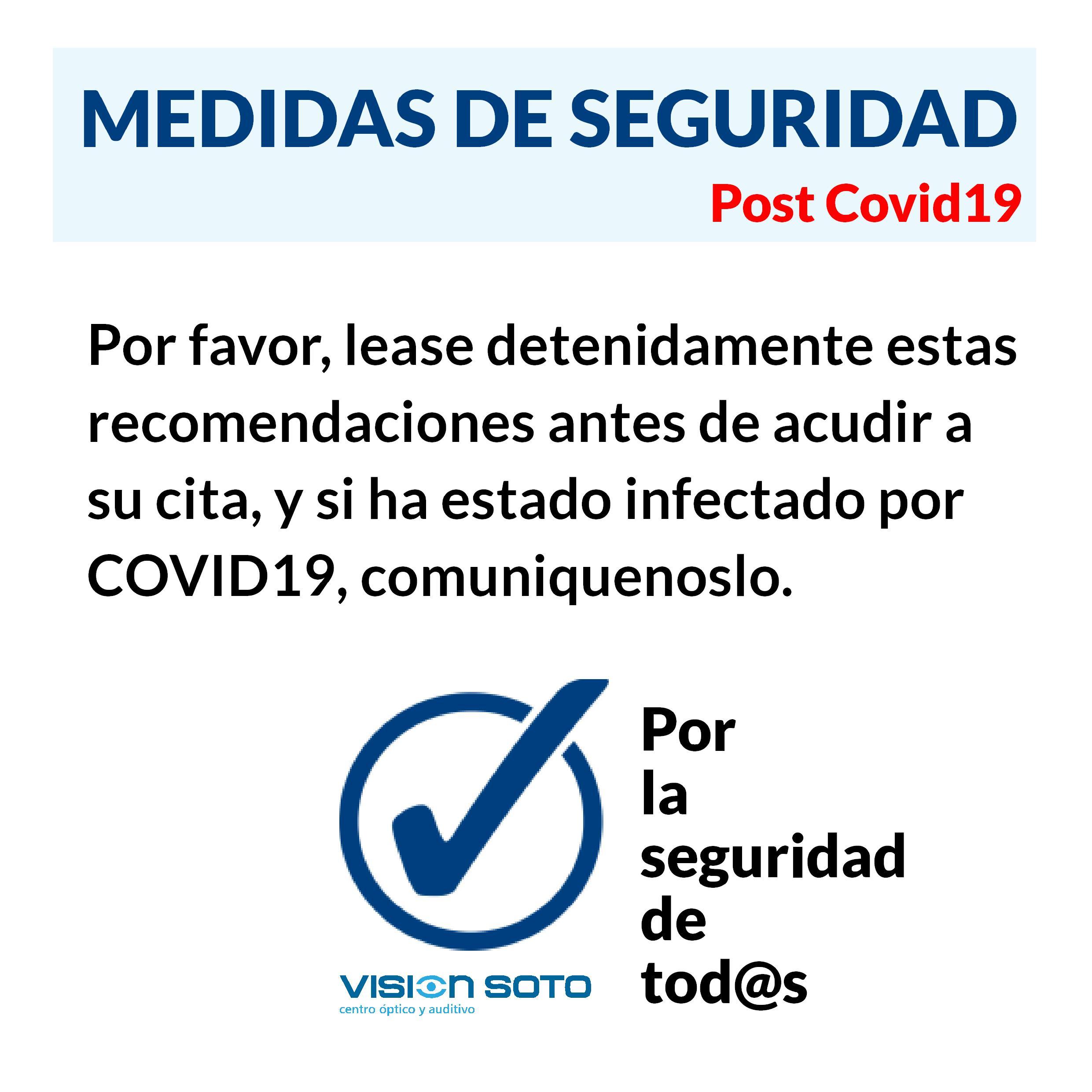 PROTOCOLO DE SEGURIDAD: Por la seguridad de tod@s.